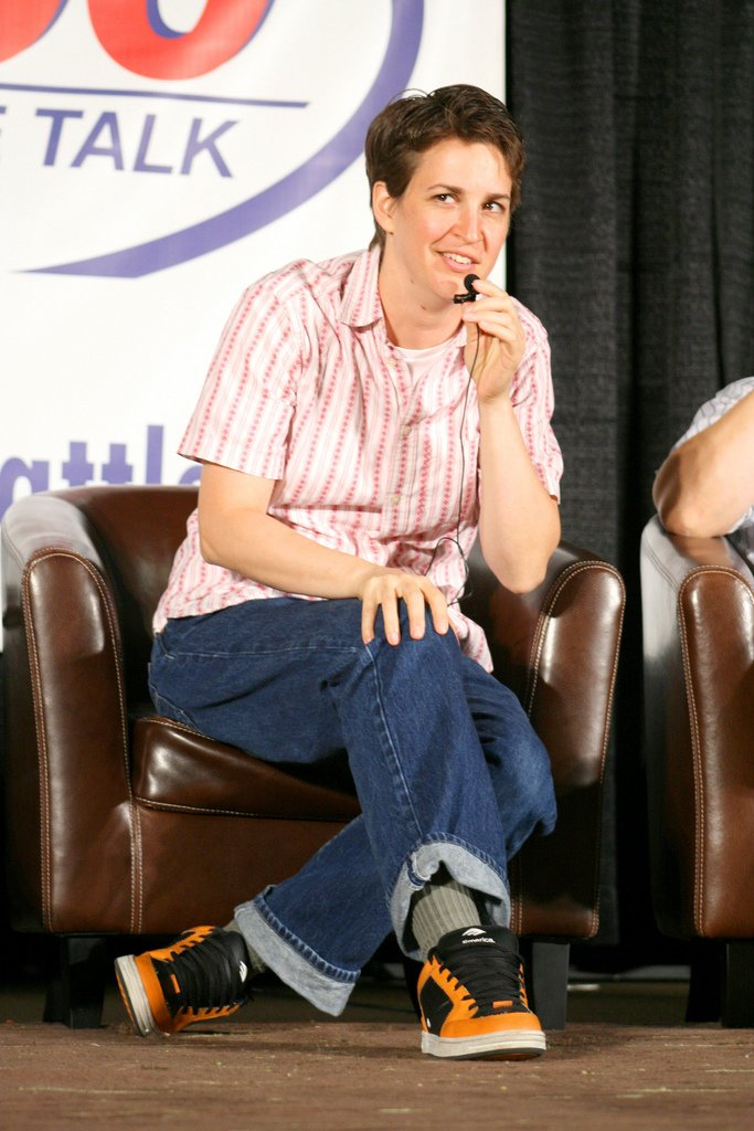 Rachel Maddow Image Source: Wikimedia Commons.