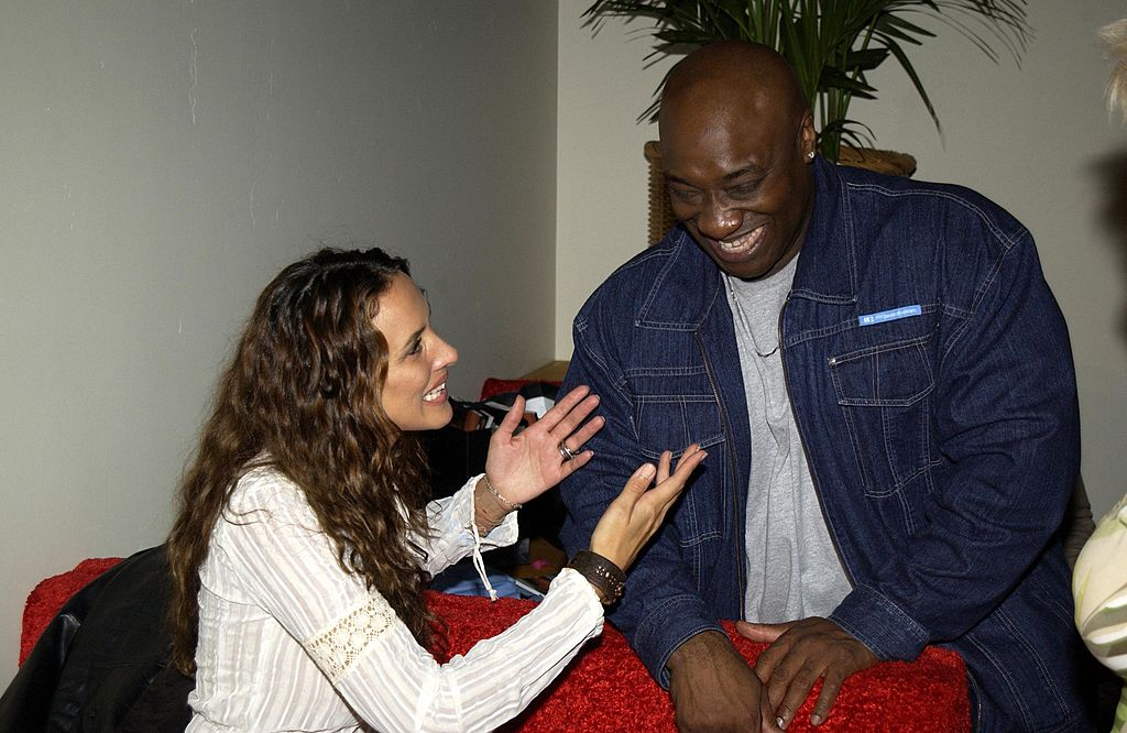"Image Credit: Getty Images / Angelica Castro & Michael Clarke Duncan during ""Scorpion King"" DVD Release Event at Virgin Megastore in Los Angeles, California, United States."