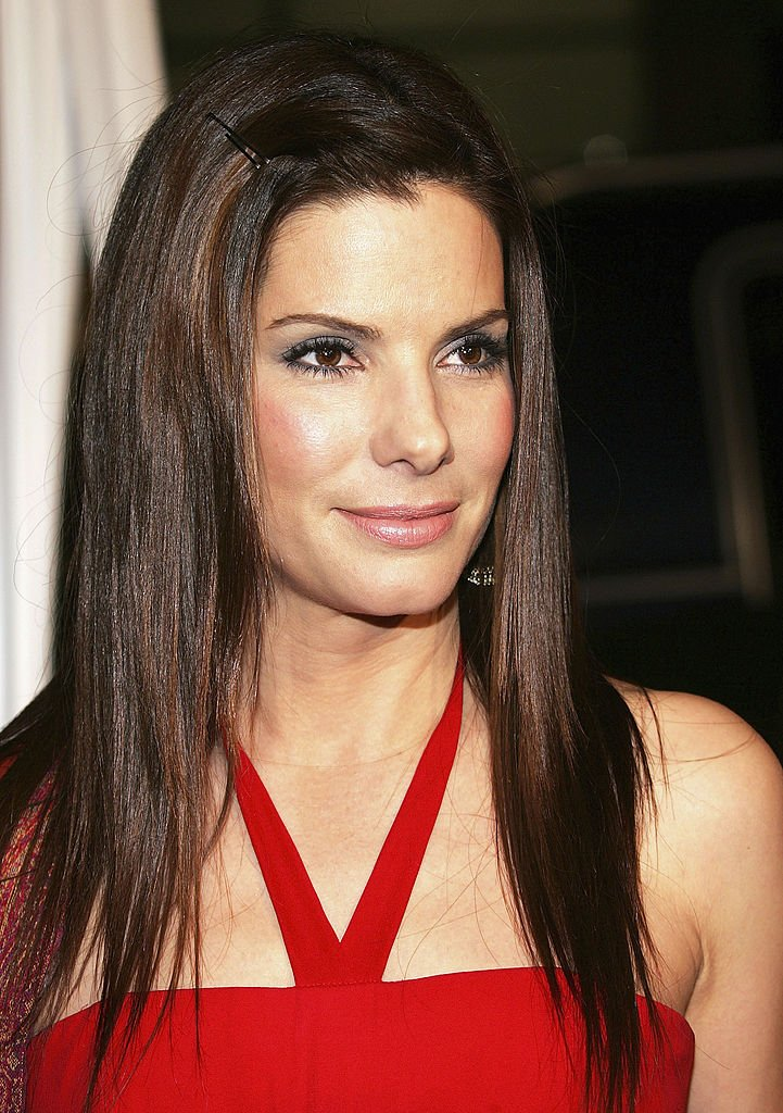 "Image Credits: Getty Images / Frederick M. Brown | Actress Sandra Bullock attends the ""Miss Congeniality 2: Armed and Fabulous"" film premiere at Grauman's Chinese Theater on March 23, 2005 in Hollywood, California."