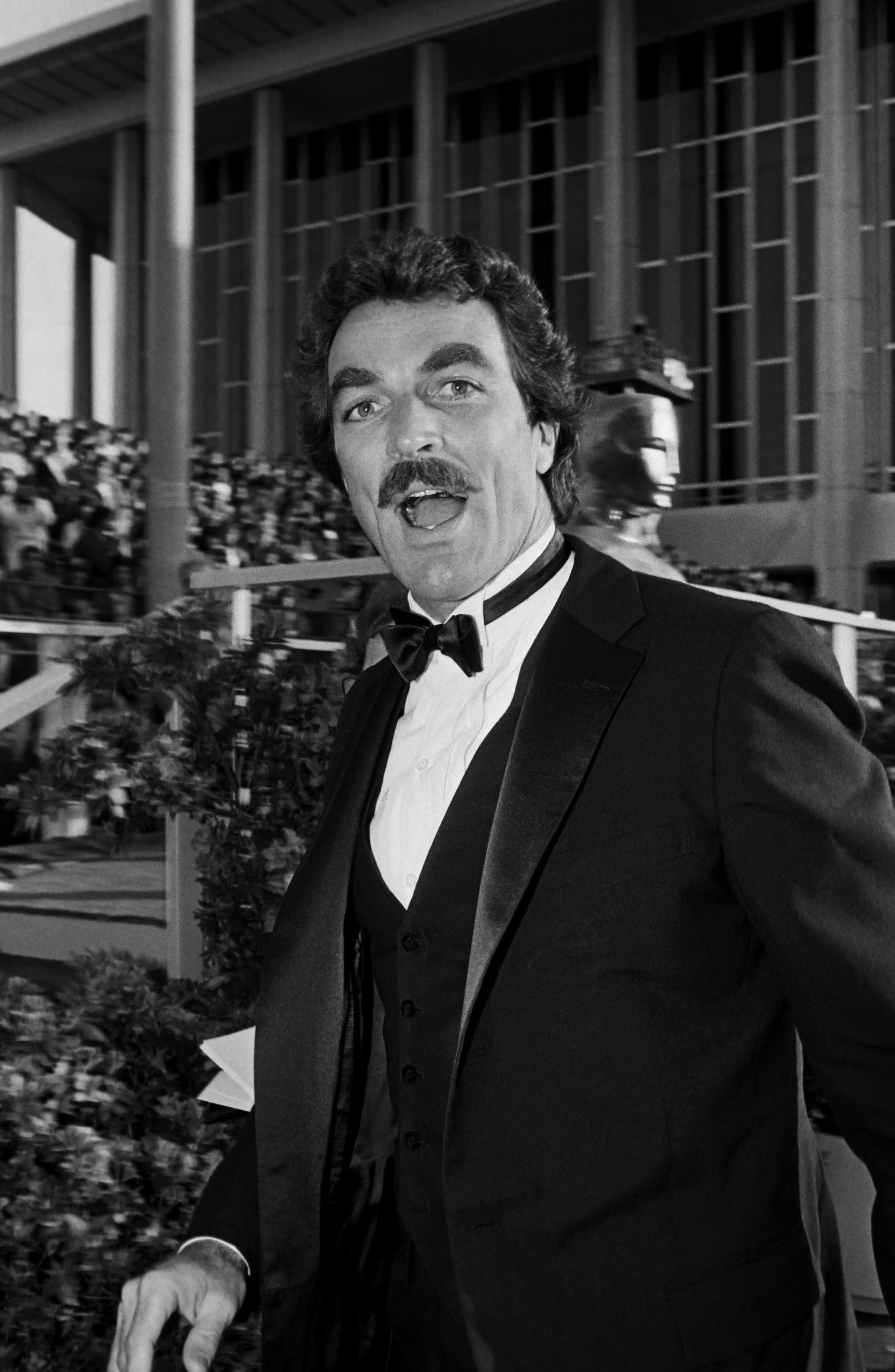 Image Credits: Getty Images | Black and White Portrait of Tom Selleck