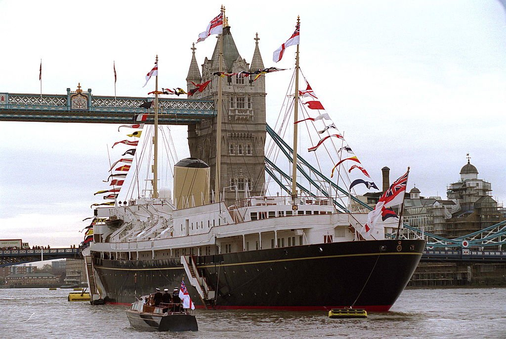 Image Source: Getty Images/Tim Graham/ Hmy Britannia In The Pool Of London