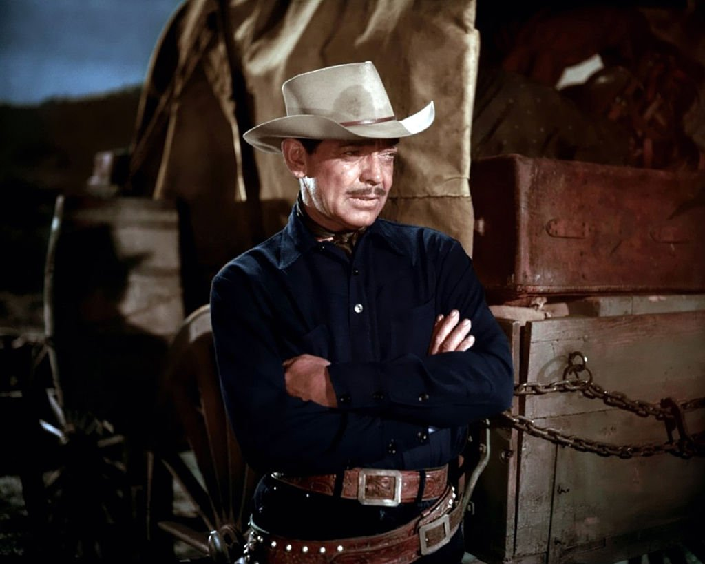 Image Credit: Getty Images / American actor Clark Gable as Colonel Ben Allison in the western 'The Tall Men', 1955.
