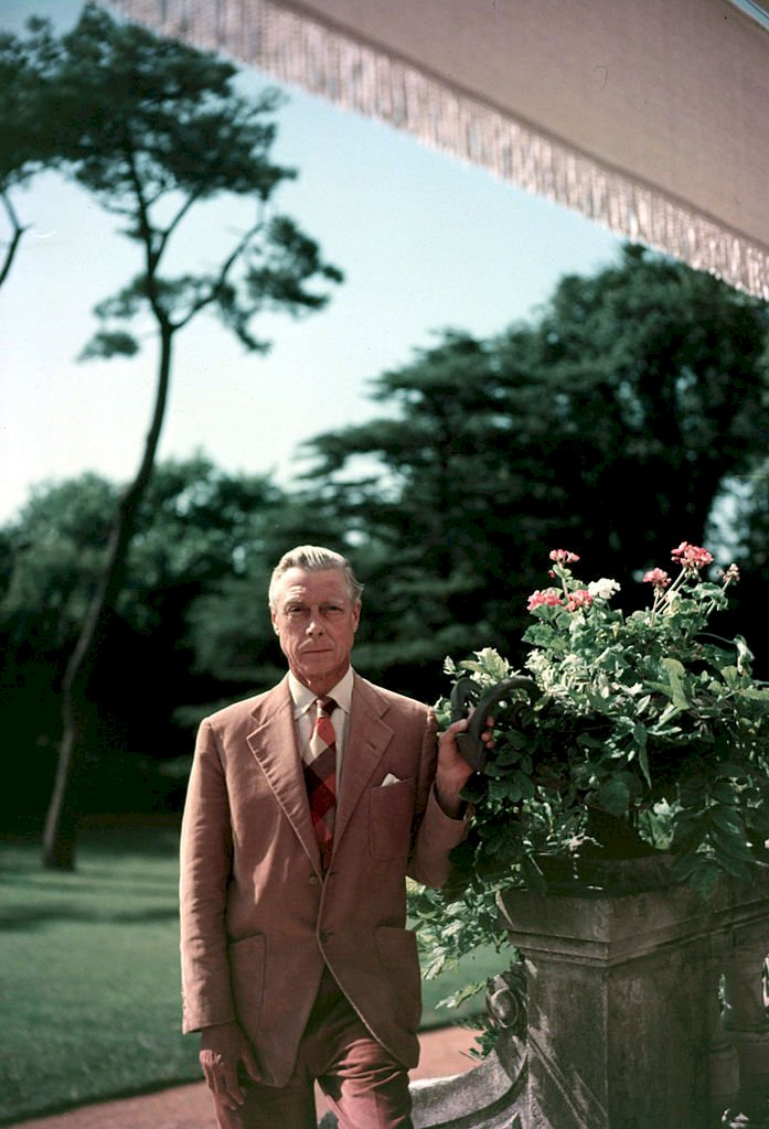 Image Credits: Getty Images / Popperfoto | Duke of Windsor at a villa at Biarritz, France.