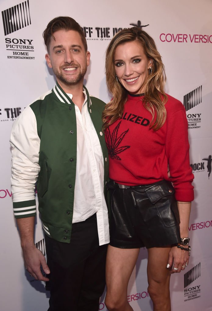 """Image Source: Getty Images/Alberto E. Rodriguez/Matthew Rodgers and Katie Cassidy attend the premiere of Sony Pictures Home Entertainment and Off The Dock's """"Cover Versions"""" at The Landmark Regent on April 9, 2018 in Los Angeles, California"""