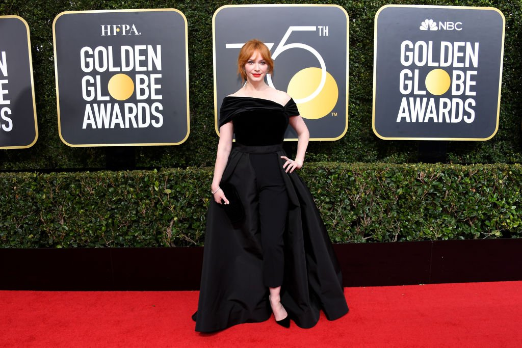 Image Credit: Getty Images / Christina Hendricks arrives to the 75th Annual Golden Globe Awards held at the Beverly Hilton Hotel on January 7, 2018.