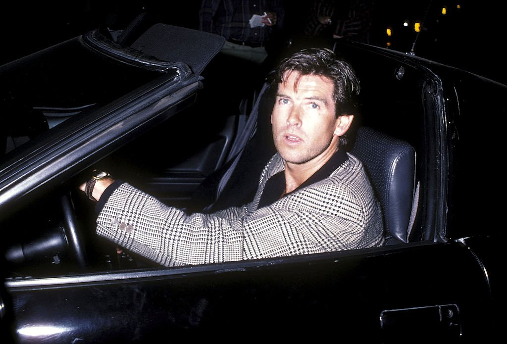 Image Source: Getty Images/Ron Galella Collection via Getty Images/Ron Galella, Ltd. | Photo of Brosnan in the LA nightlife 1984