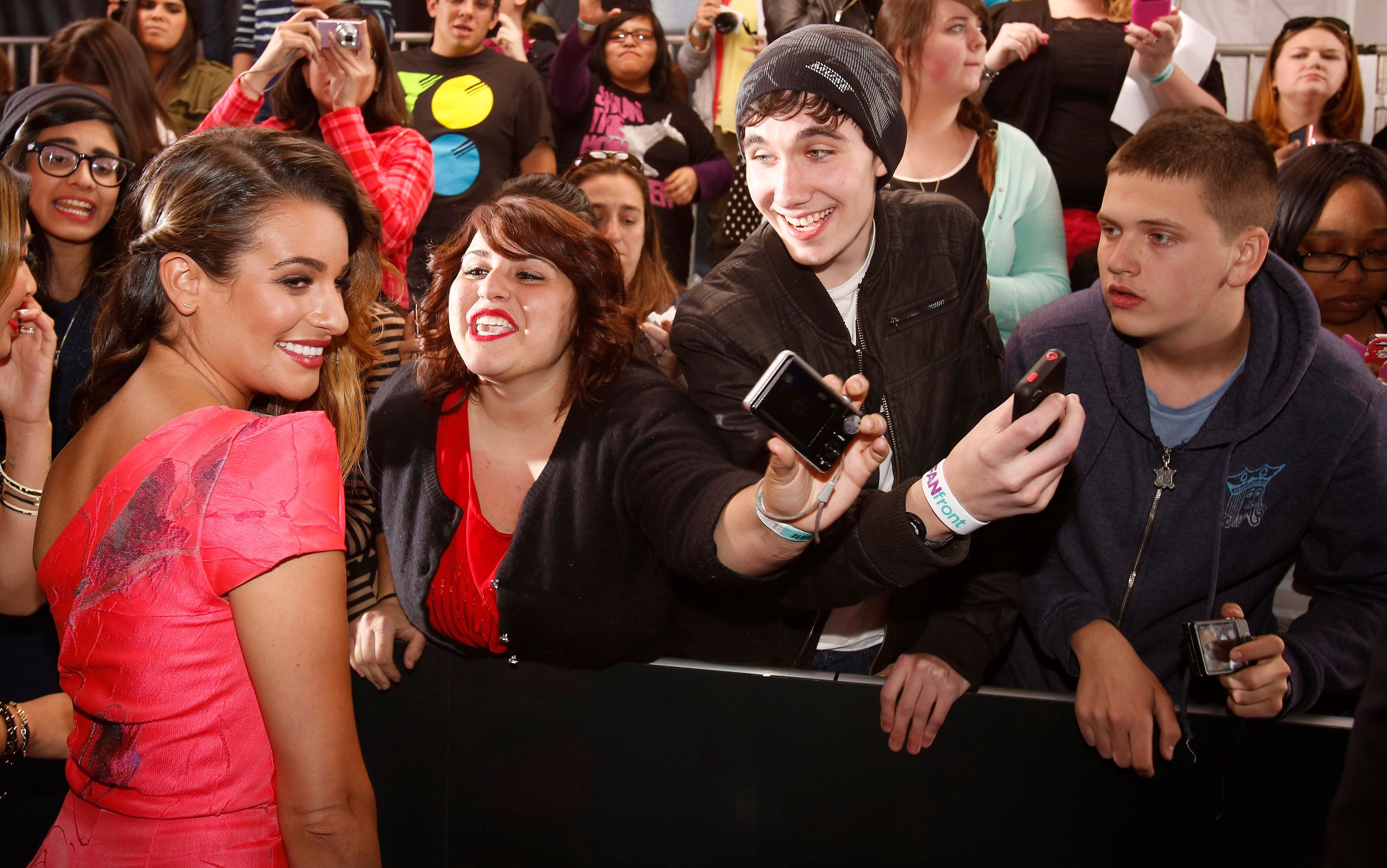 Lea Michele isn't very friendly with her fans / Getty Images