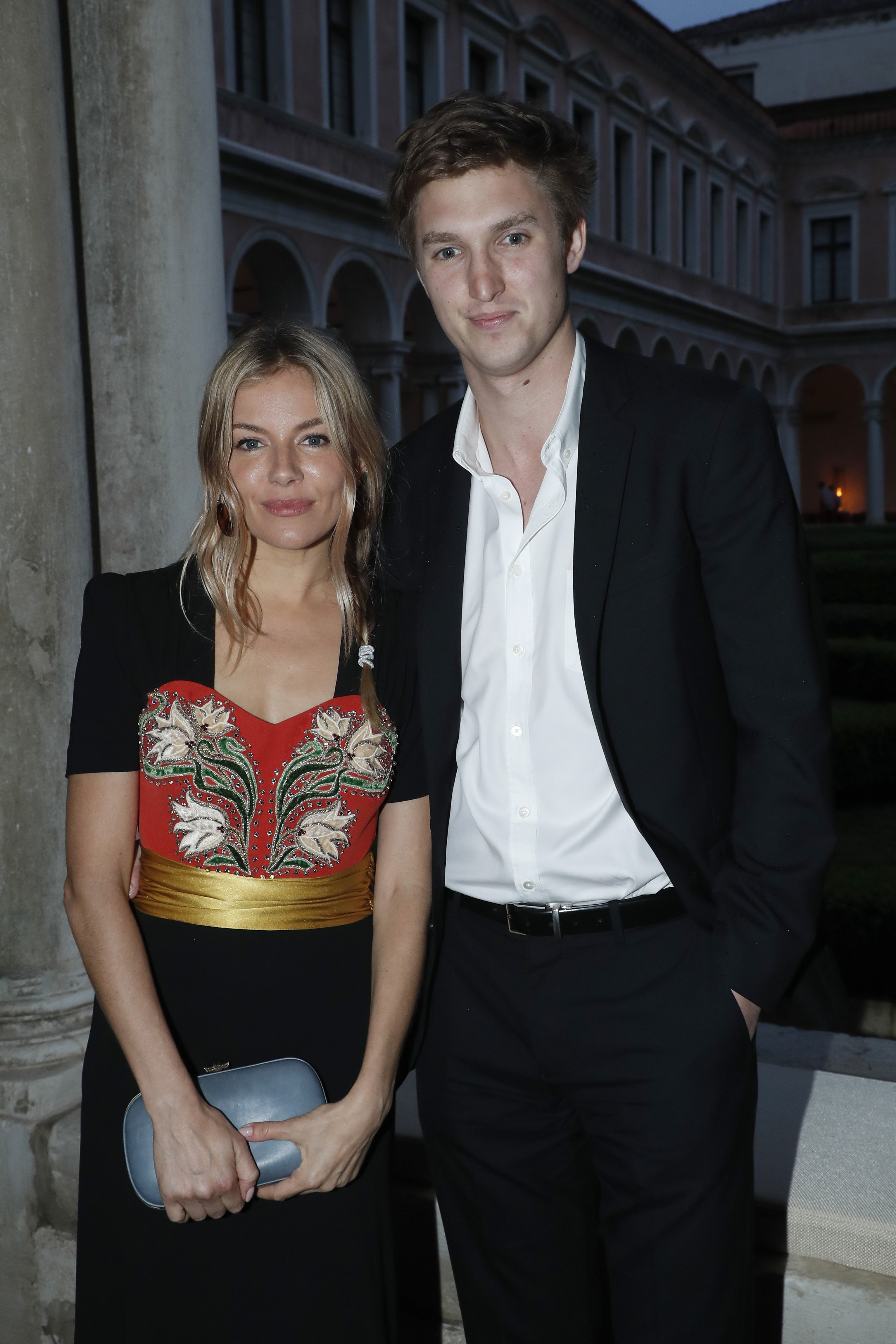 Sienna Miller and Lucas Zwirner attend the 58th International Art Biennale in Venice / Getty Images