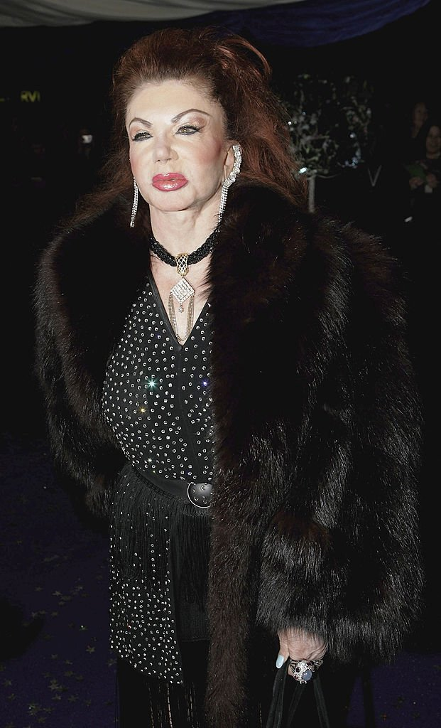 Image Credits: Getty Images / Gareth Cattermole | Jackie Stallone arrives at the British Comedy Awards 2005 at London Television Studios on December 14, 2005 in London, England.