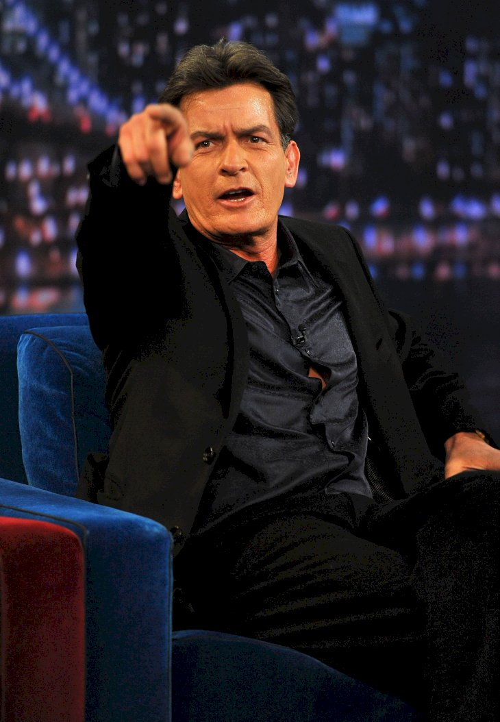 Image Credit: Getty Images / Charlie Sheen in an interview.