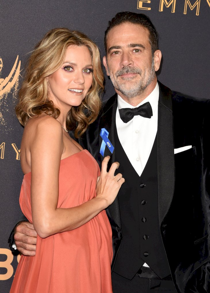 Image Credits: Getty Images / J. Merritt | Actor Jeffrey Dean Morgan (R) and Hilarie Burton attend the 69th Annual Primetime Emmy Awards at Microsoft Theater on September 17, 2017 in Los Angeles, California.