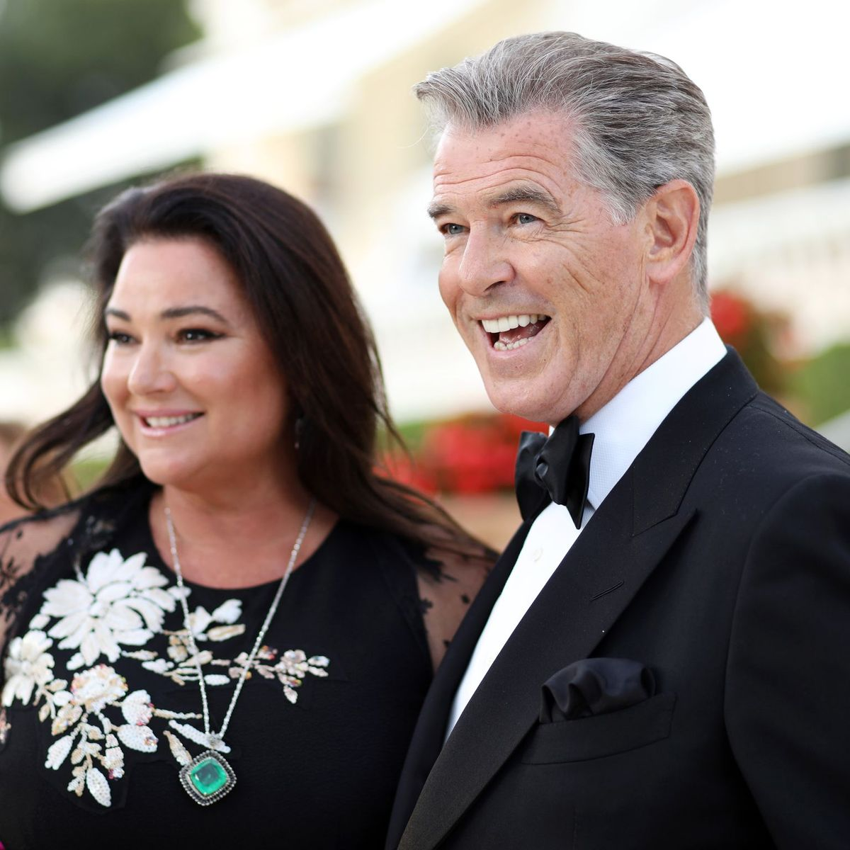 Pierce Brosnan and Keely Shaye Smith/Photo:Getty Images