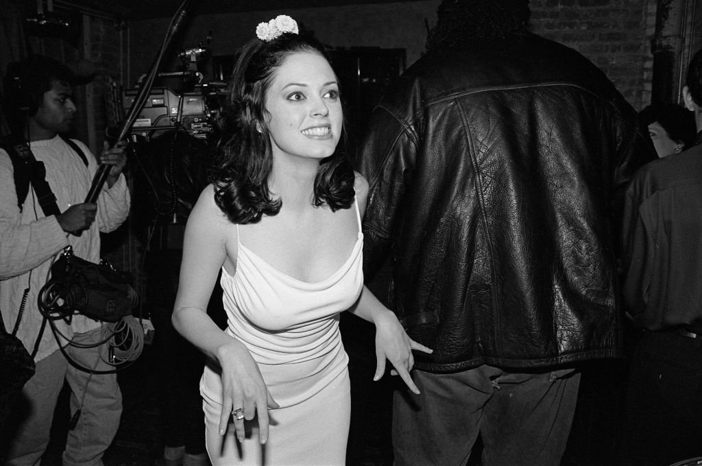 Image Credit: Getty Images / Rose McGowan attends a party celebrating publication of Marilyn Manson's book in 1998.