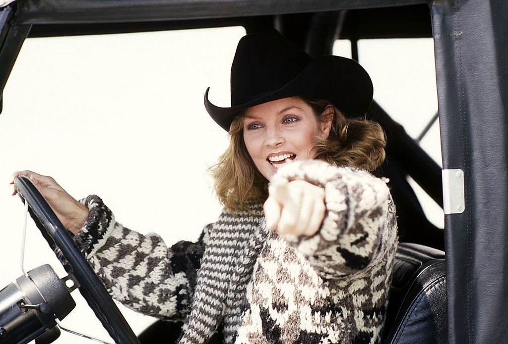 Image Credit: Getty Images / Priscilla Presley on April 24, 1980 at Wilshire Boulevard in Beverly Hills, California.