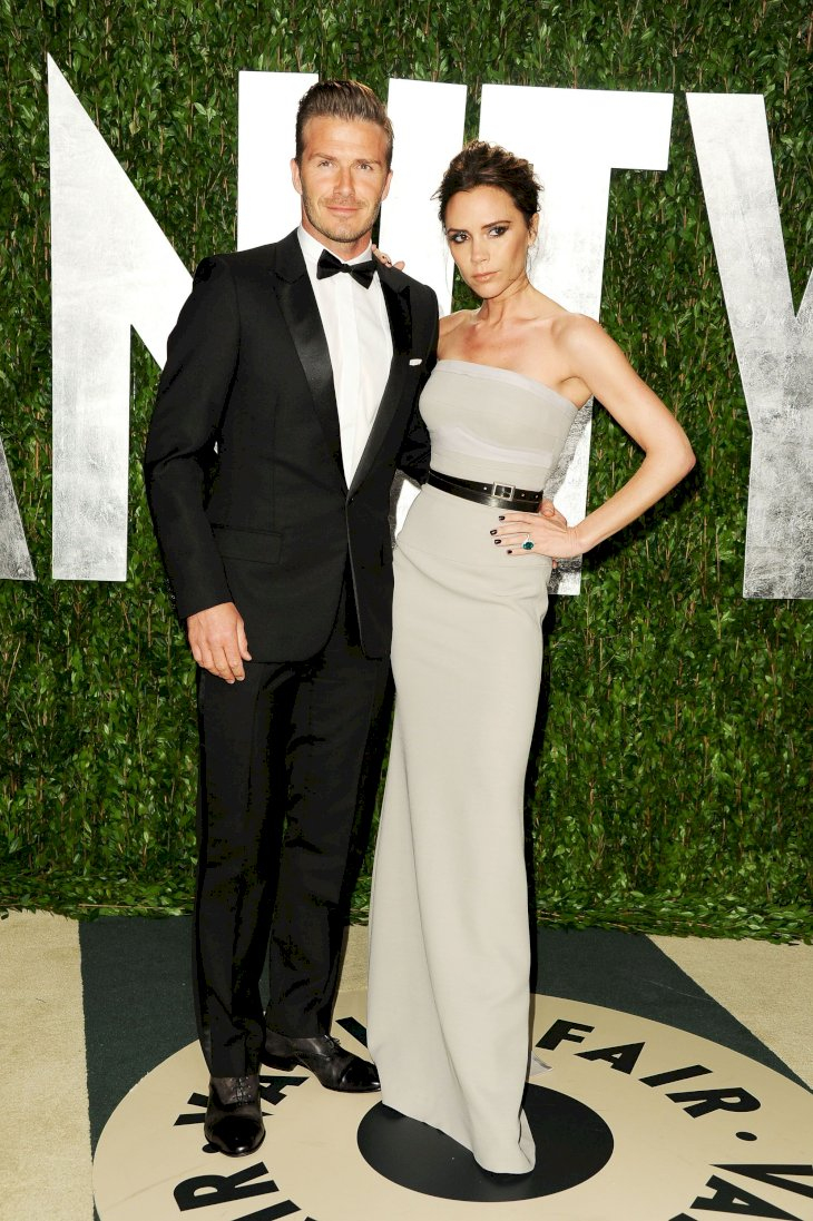David and Victoria Beckham attending the Vanity Fair Oscar Partyin 2012/Photo:Getty Images