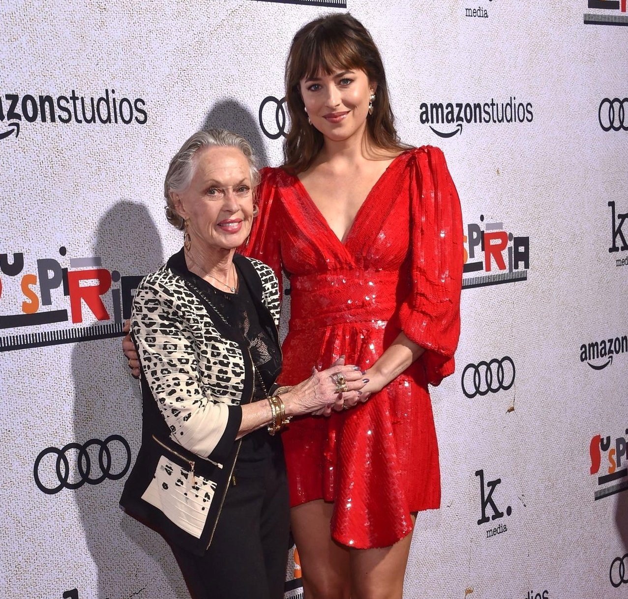 Image Credit: Getty Images/Dakota with her grandmother Tippi