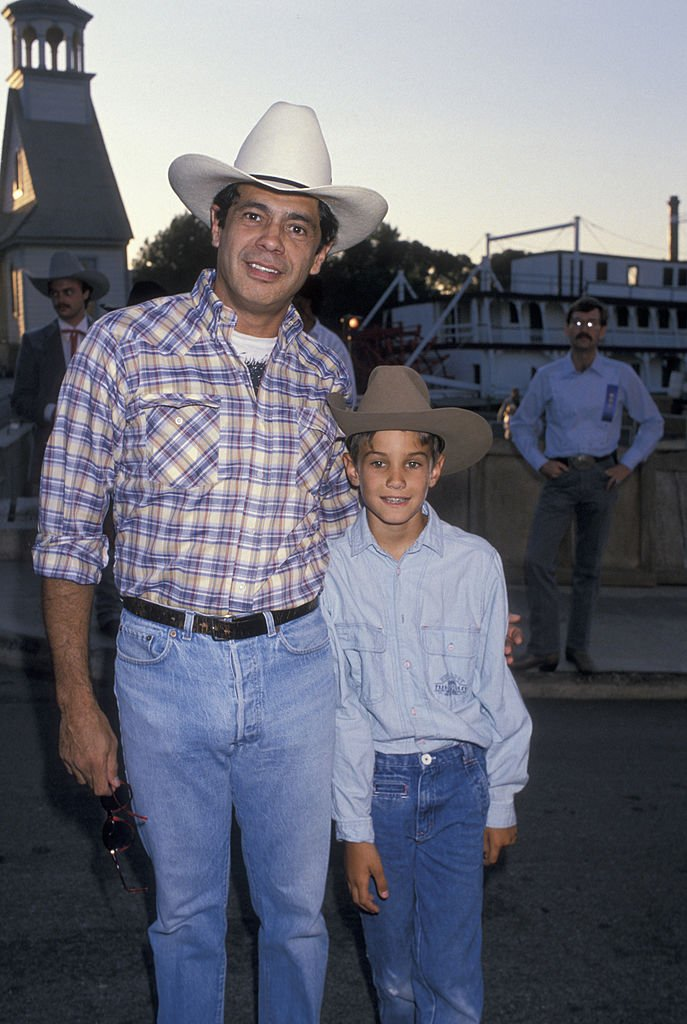 Image Credits: Getty Images / Ron Galella, Ltd. / Ron Galella Collection | Actor Reni Santoni attending 'Ben Johnson Pro-Celebrity Rodeo Party' on August 11, 1989 at the Los Angeles Equestrian Center in Los Angeles, California.