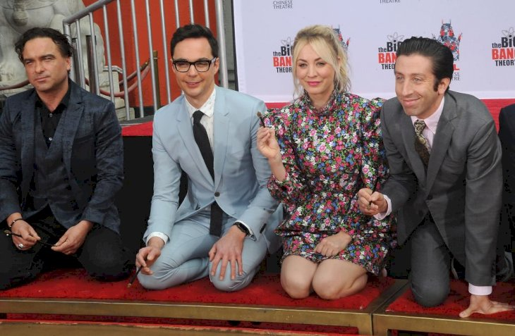 """Image Credit: Getty Images / The Cast Of """"The Big Bang Theory"""" Places Their Handprints In The Cement At The TCL Chinese Theatre IMAX Forecourt held on May 1, 2019."""