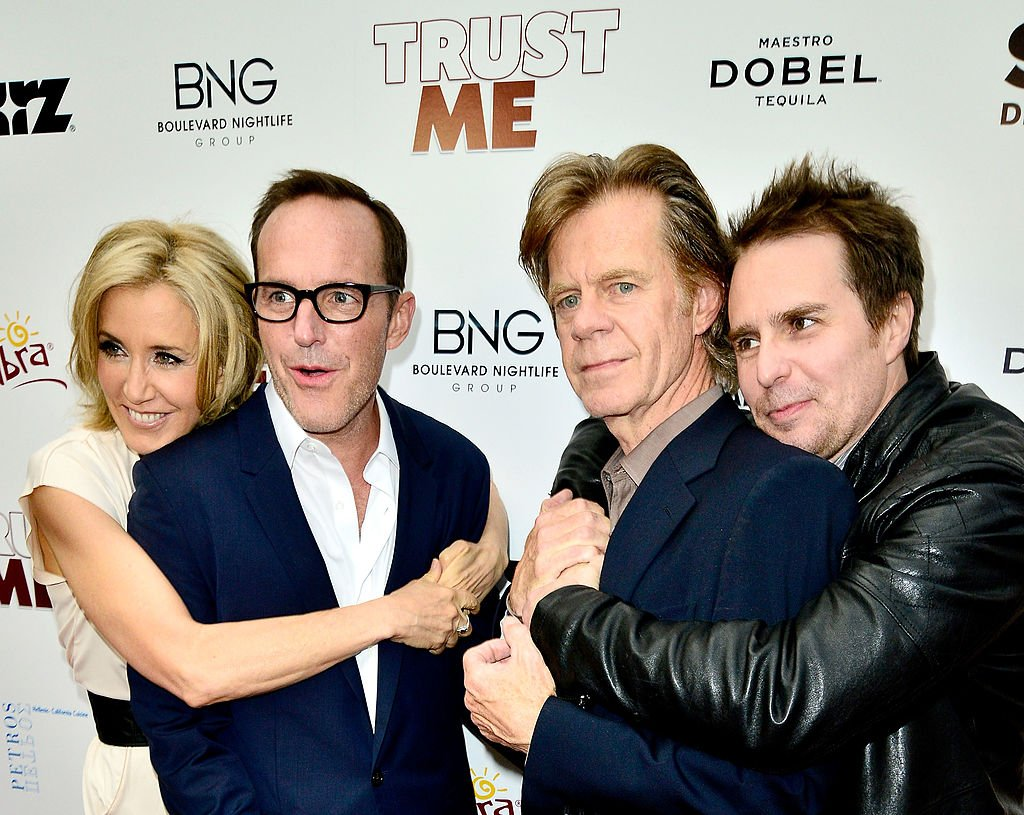 Image Credits: Getty Images / Jerod Harris | (L-R) Felicity Huffman, Clark Gregg, William H. Macy and Sam Rockwell arrive at the Los Angeles Premiere of 'Trust Me' at the Egyptian Theatre on May 22, 2014 in Hollywood, California.