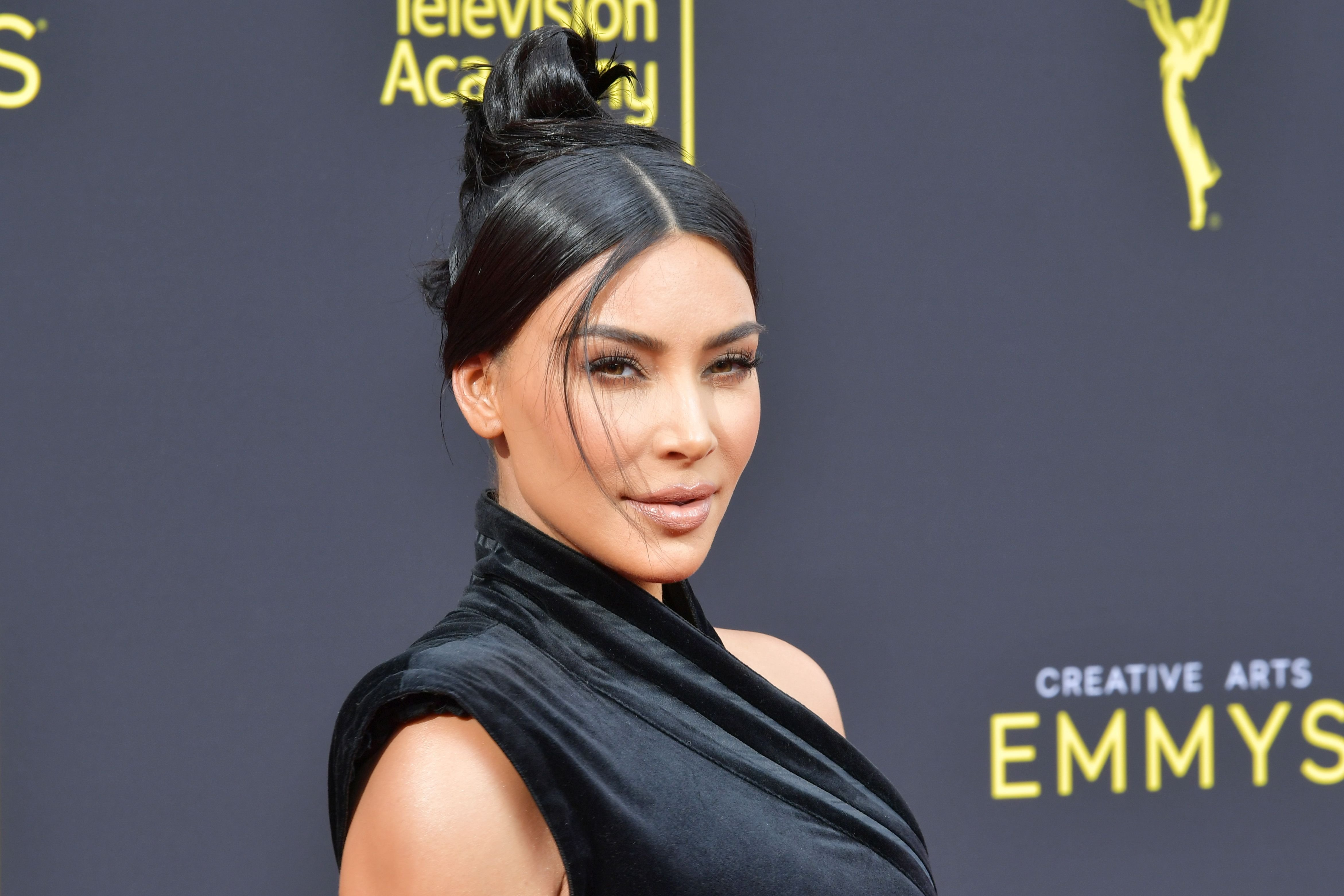 Kim Kardashian at the Creative Arts Emmy Awards on September 14, 2019 / Getty Images