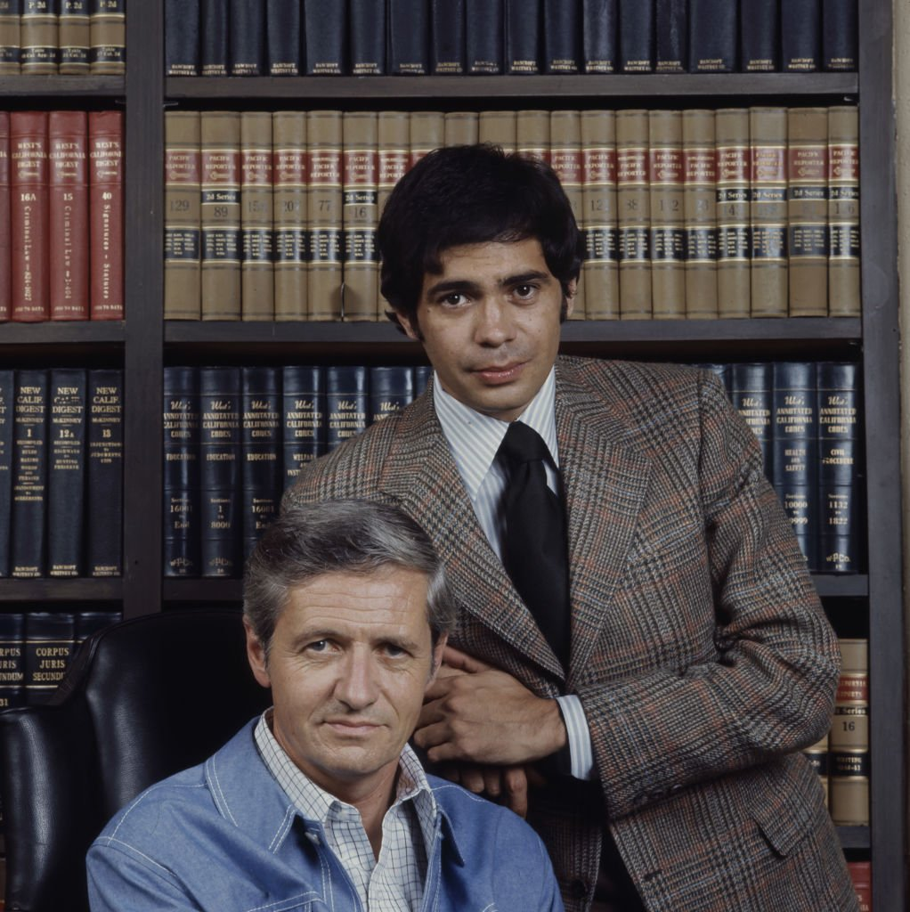 Image Credits: Getty Images / Walt Disney Television | (L-R) Arthur Hill, Reni Santoni promotional photo for the ABC tv series 'Owen Marshall, Counselor at Law'.