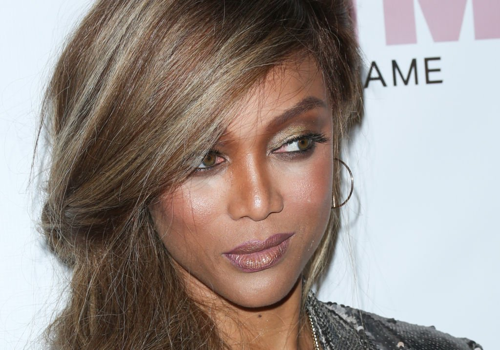 """Image Credit: Getty Images / TV Personality Tyra Banks attends the release of the """"America's Next Top Model"""" mobile game at Avalon on May 3, 2018 in Hollywood, California."""