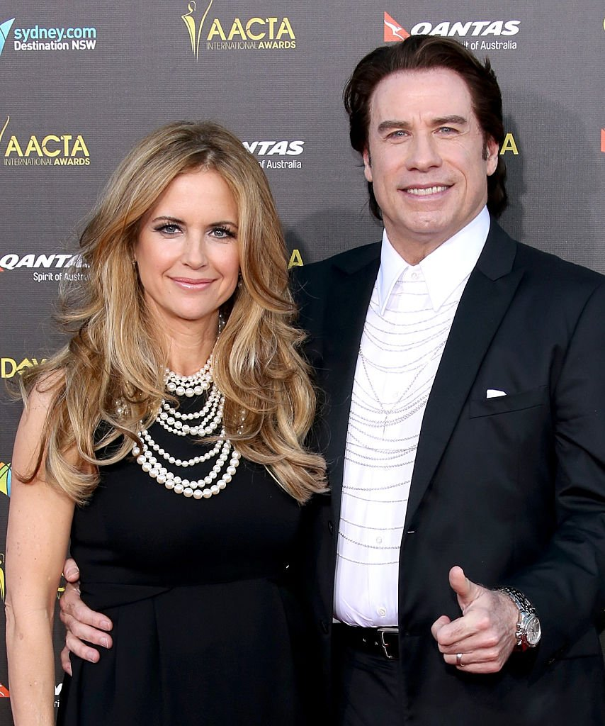 Image Source: Getty Images/Jonathan Leibson/Actors Kelly Preston (L) and John Travolta attend the 2015 G'Day USA GALA featuring the AACTA International Awards presented by QANTAS at Hollywood Palladium on January 31, 2015 in Los Angeles, California