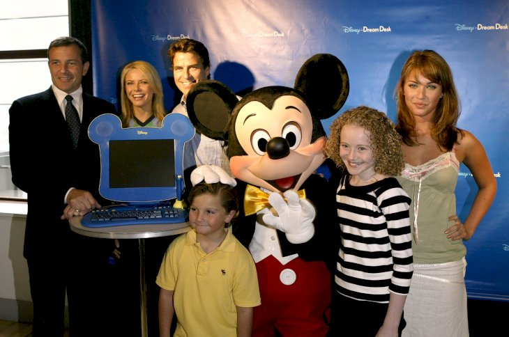 Meghan Fox before the unveiling of the new Disney Dream Desk PC for kids at the American Museum of Natural History's Powerhouse room August 5, 2004 / Getty Images