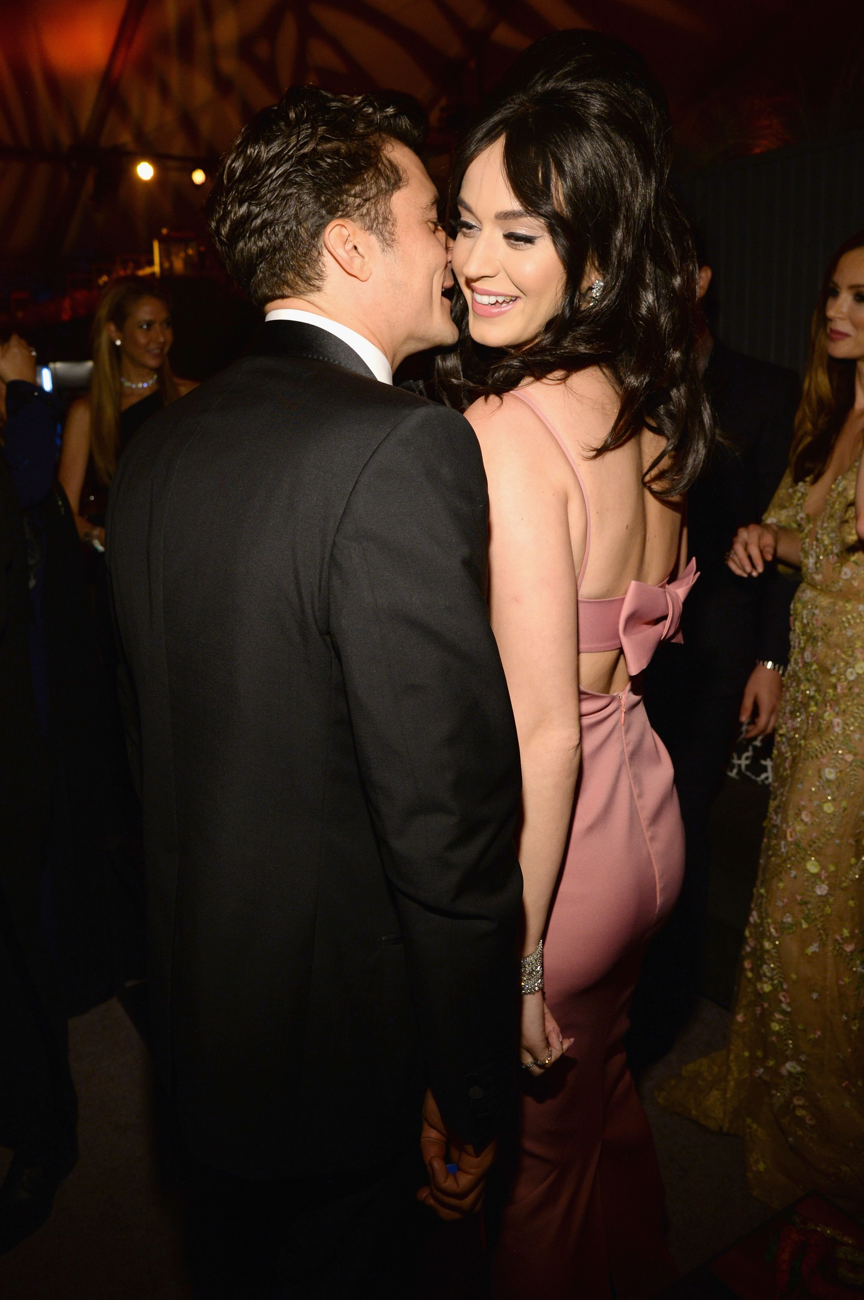 Orlando Bloom and Katy Perry attend The Weinstein Company and Netflix Golden Globe Party / Getty Images