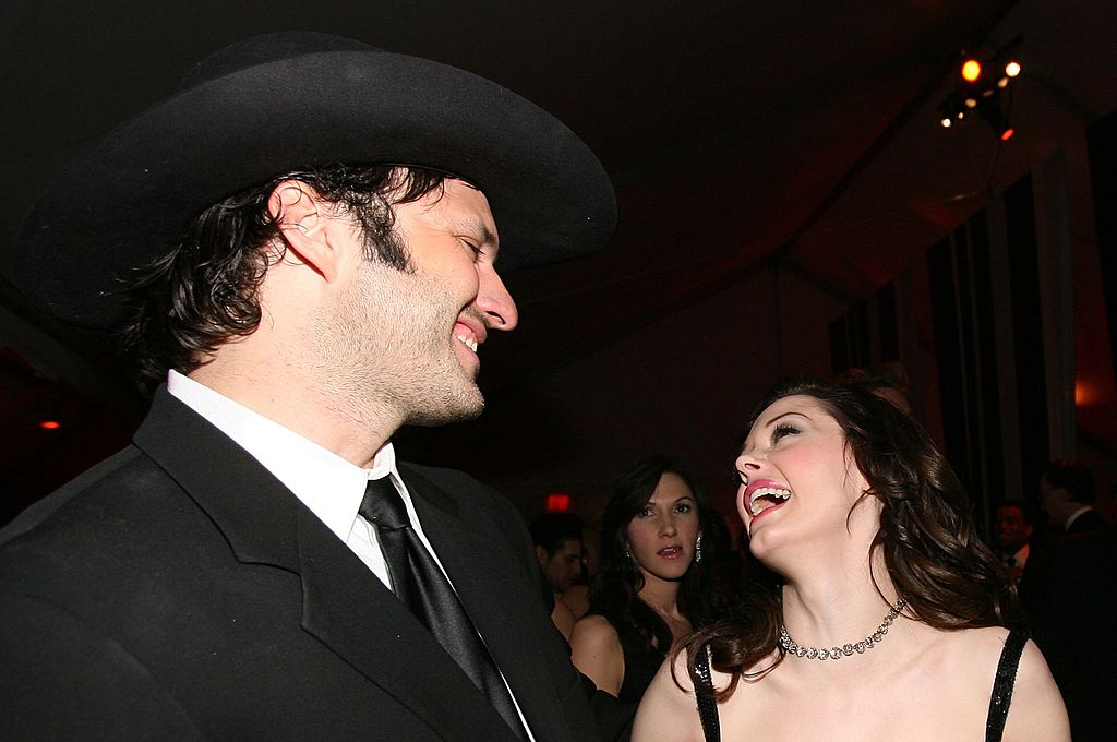 Image Credit: Getty Images / Director Robert Rodriguez (L) and actress Rose McGowan attend the Weinstein Company's 2007 Golden Globes After Party held at the Beverly Hilton.