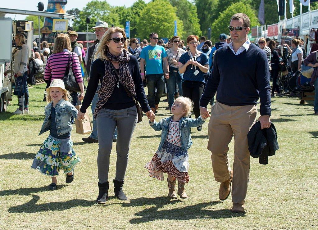 Image Credit: Getty Images / Peter Phillips and Autumn Phillips with Isla Phillips and Savannah Phillips at the Royal Windsor Horse show on May 16, 2015 in Windsor, England.
