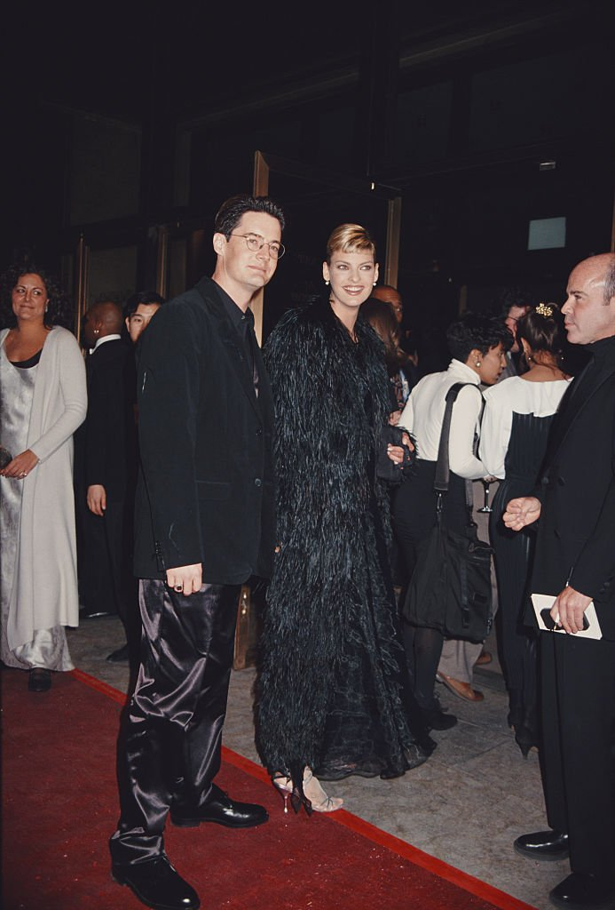 Image Source: Getty Images/Rose Hartman | Model Linda Evangelista and actor Kyle MacLachlan during 13th Annual CFDA Awards at the Lincoln Center in New York City, New York, United States, 7th February 1994