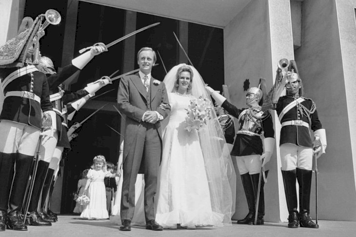 Image Credit: Getty Images/Hulton Royal Collection | Wedding Day Of Andrew Parker Bowles and Camilla Shand