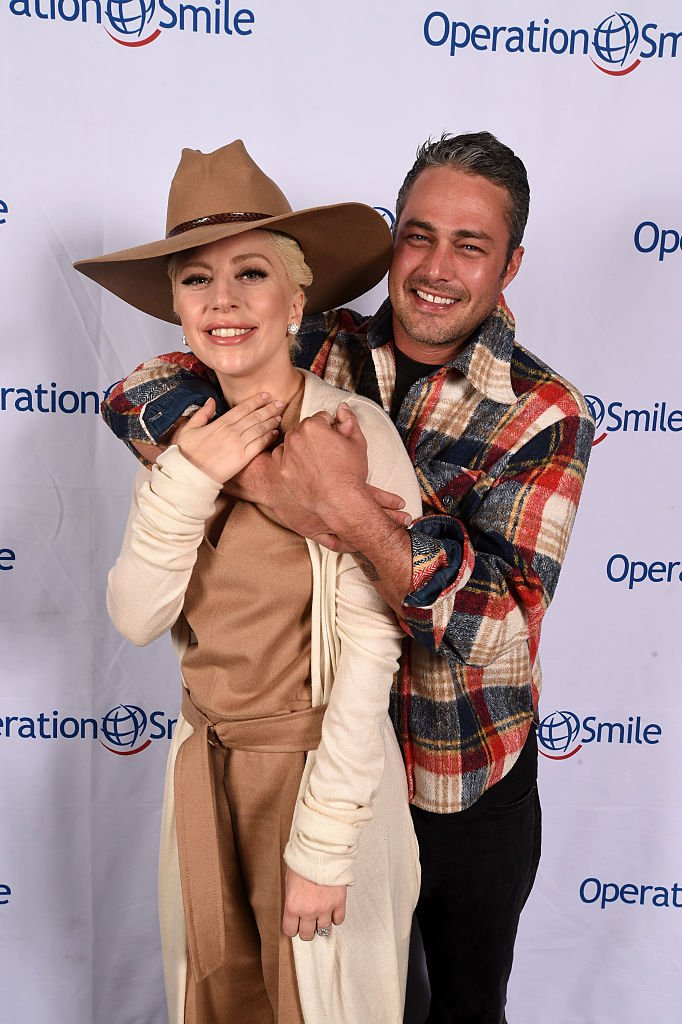 Image Source: Getty Images/Fred Hayes/Lady Gaga and Taylor Kinney pose at Tupelo on March 12, 2016 in Park City, Utah