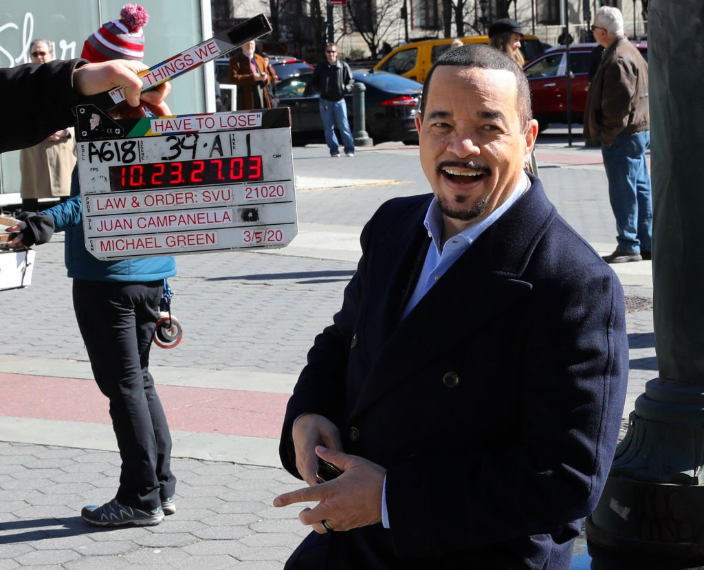 Image Credit: Getty Images / Ice T is seen on set of 'Law and Order: Special Victims Unit' on March 06, 2020 in New York City.
