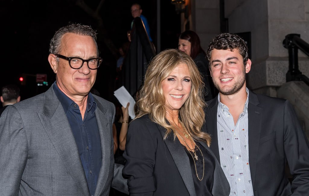 Image Credits: Getty Images / Gilbert Carrasquillo / GC Images | Actors Tom Hanks, wife Rita Wilson and son Truman Theodore Hanks are seen arriving to Tom Ford SS19 fashion show at Park Avenue Armory on September 5, 2018 in New York City.