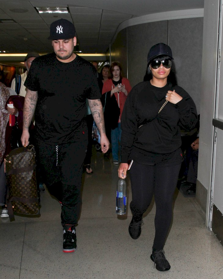 Image Credit: Getty Images/GC Images/Bauer-Griffin/GVK |  Rob Kardashian and Blac Chyna are seen at LAX on April 18, 2016