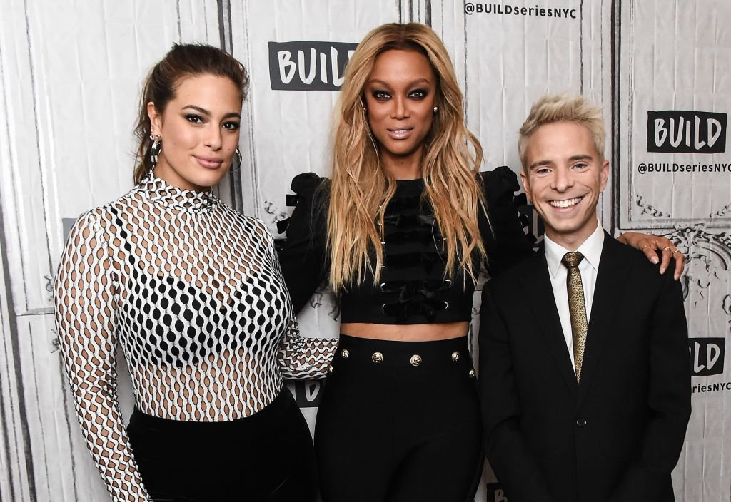 Image Credit: Getty Images / Ashley Graham, Tyra Banks and Drew Elliott attend the Build Series to discuss the new season of 'America's Next Top Model' at Build Studio on January 9, 2018 in New York City.