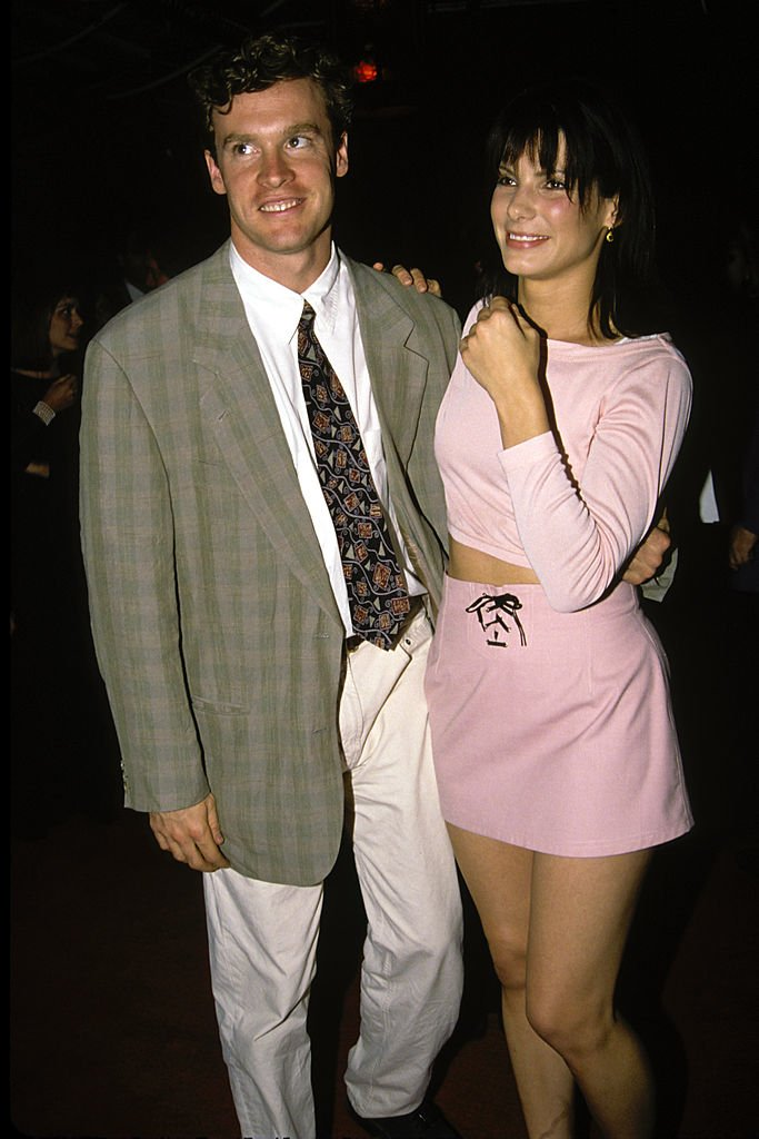 Image Source: Getty Images/Vinnie Zuffante |  Sandra Bullock and Tate Donovan in LA 1994