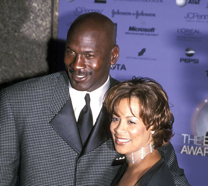 """Image Credit: Getty Images / Basketball player Michael Jordan and wife Juanita Vanoy attend the """"2000 Essence Awards"""" on April 14, 2000 at Radio City Music Hall in New York City, New York."""