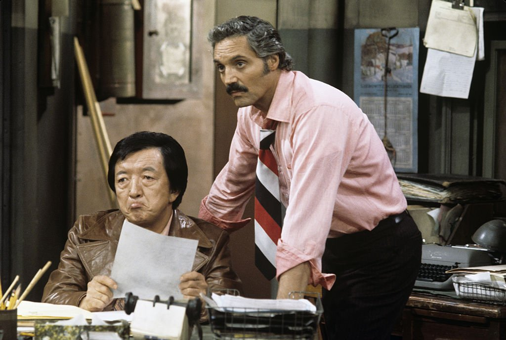 Image Credit: Getty Images / Jack Soo, Hal Linden on set for Barney Miller.