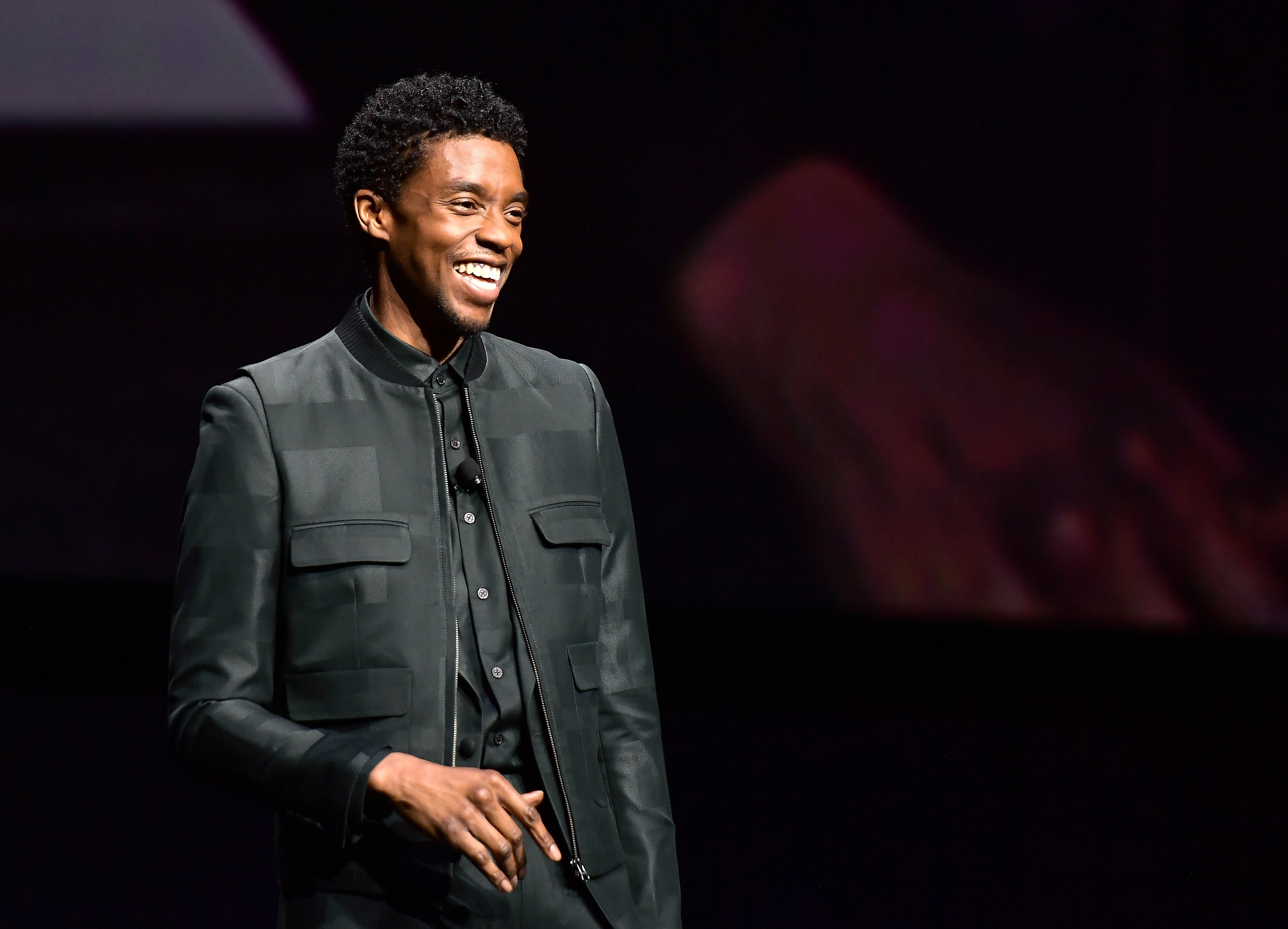 Image Credits: Getty Images / Matt Winkelmeyer | Chadwick Boseman speaks onstage at CinemaCon 2019 The State of the Industry and STXfilms Presentation at The Colosseum at Caesars Palace during CinemaCon, the official convention of the National Association of Theatre Owners, on April 2, 2019 in Las Vegas, Nevada.