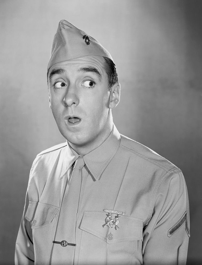 Image Source: Getty Images/Bettmann| Head and shoulders publicity photo of Jim Nabors as television's Gomer Pyle