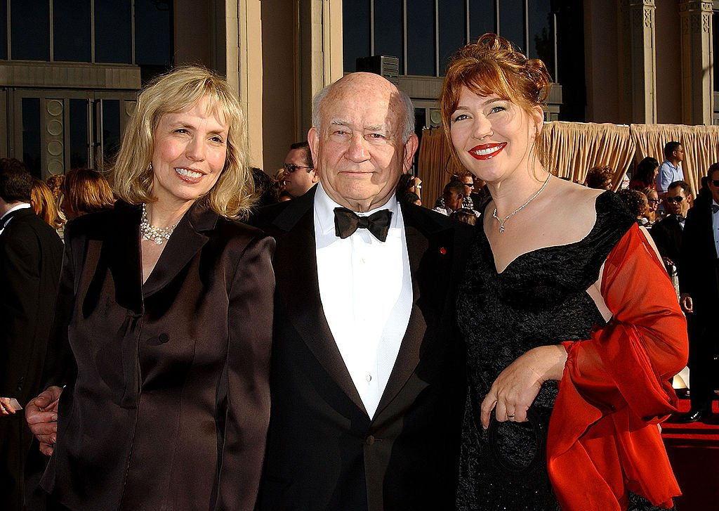Image Credits: Getty Images | Kate Asner with Ed Asner and his wife Cindy