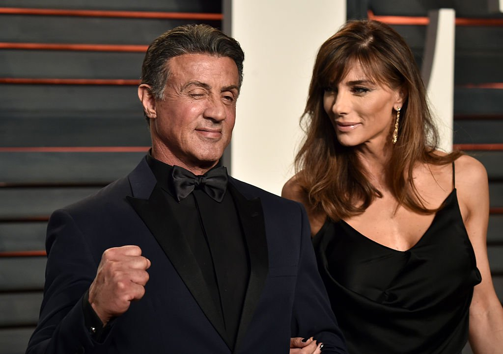 Image Source: Getty Imagesz/WireImage/Alberto E. Rodrigue | Mr. & Mrs. Stallone at a red carpet event