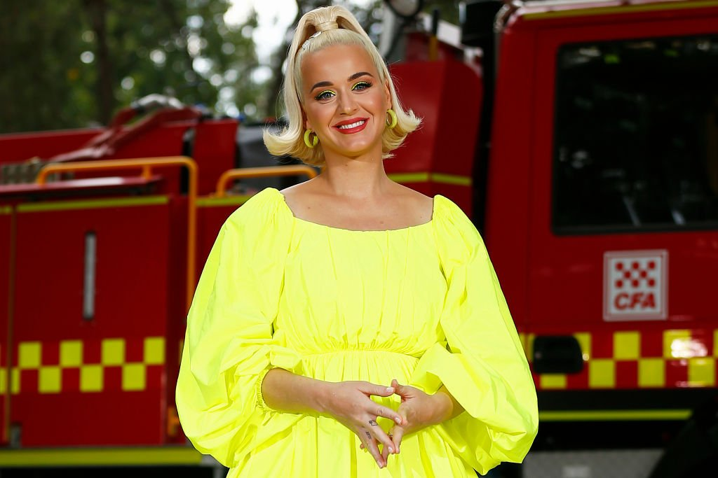 Image Credits: Getty Images / Daniel Pockett | Katy Perry poses for a photograph on March 11, 2020 in Bright, Australia. The free Fight On concert was held for for firefighters and communities recently affected by the devastating bushfires in Victoria.