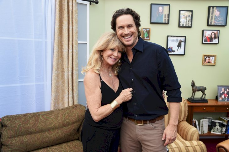 Image Credit: Getty Images / Goldie Hawn with her son, Oliver Hudson.