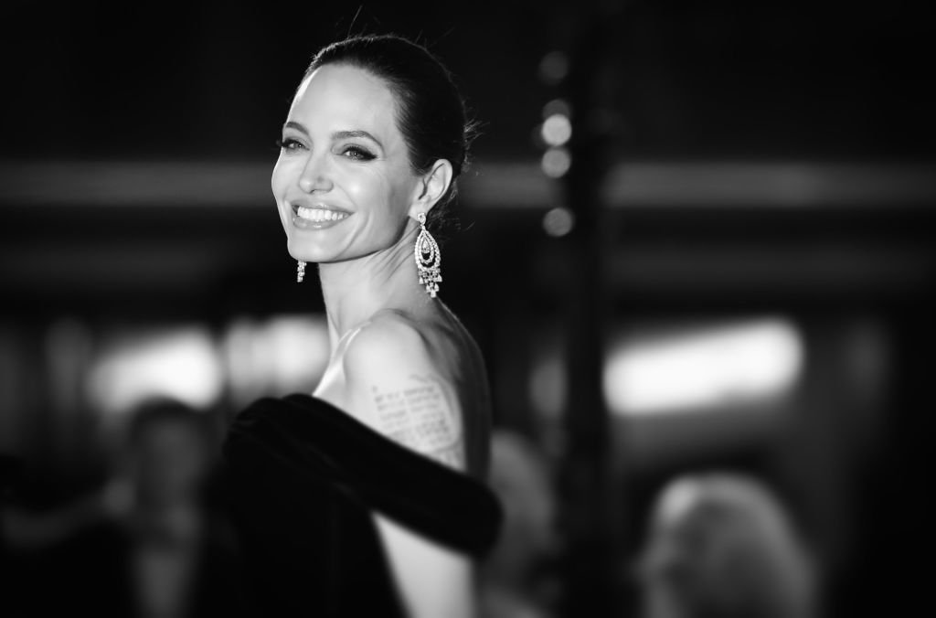 Image Credit: Getty Images/WireImage/Mike Marsland | Jolie at the EE British Film Academy Awards