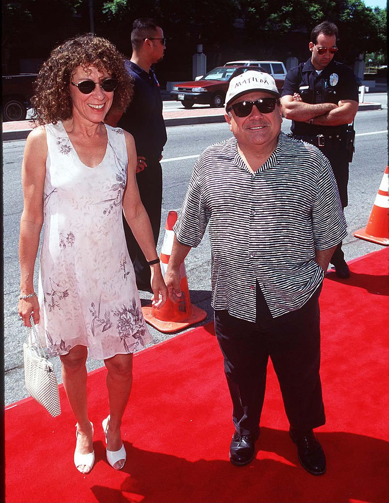 "Image Source: Getty Images/Danny DeVito & Rhea Perlman during ""Matilda"" Los Angeles Premiere at Mann Culver Plaza Theatre in Culver City, California, United States"