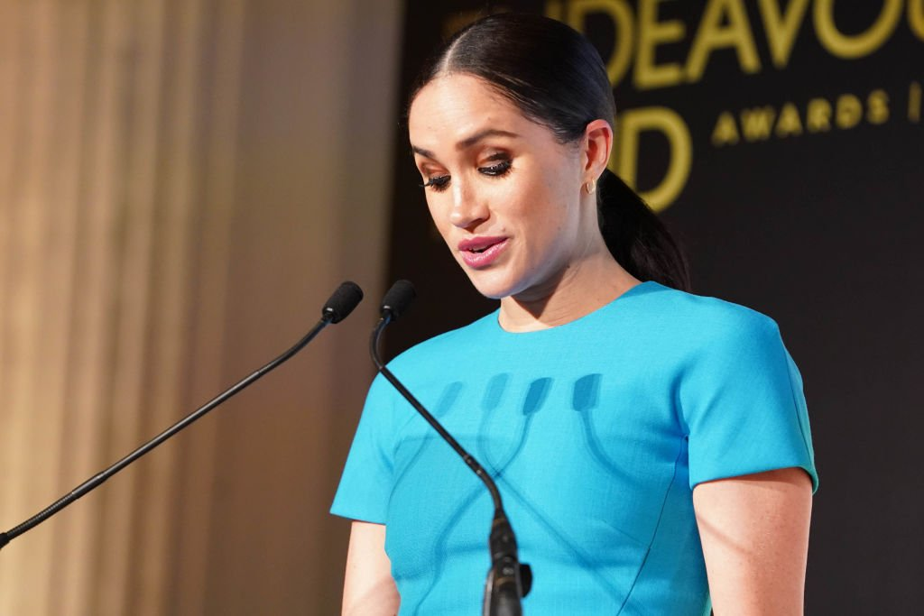 Image Credit: Getty Images / Meghan, Duchess of Sussex announces an award during the annual Endeavour Fund Awards at Mansion House on March 5, 2020 in London, England.